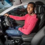 Sturridge in a car