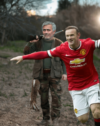 Mourinho and Rooney forest