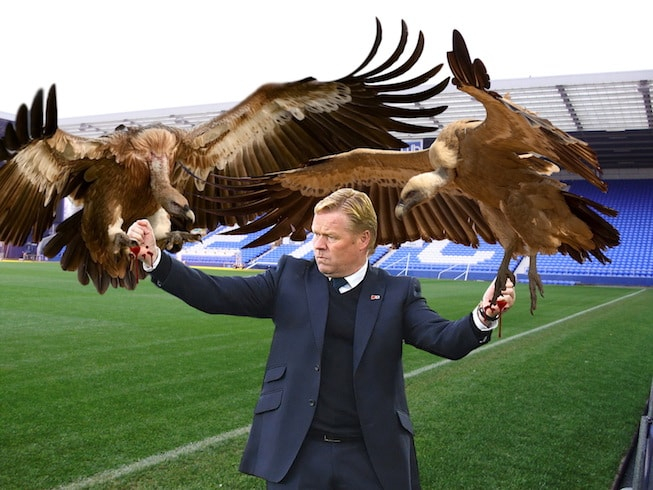 Koeman attacked by vultures