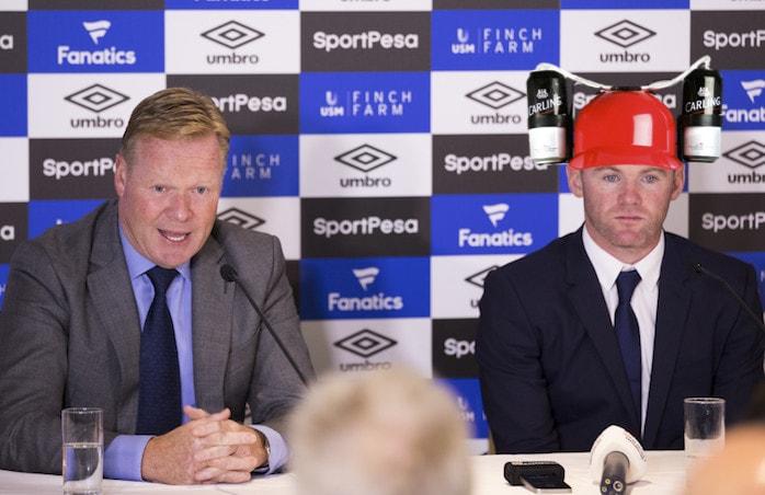Rooney in Beer Hat