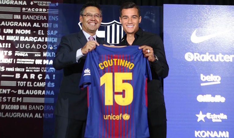 new styles 955d1 8340f Coutinho Signs for Barcelona in £155 Million Deal