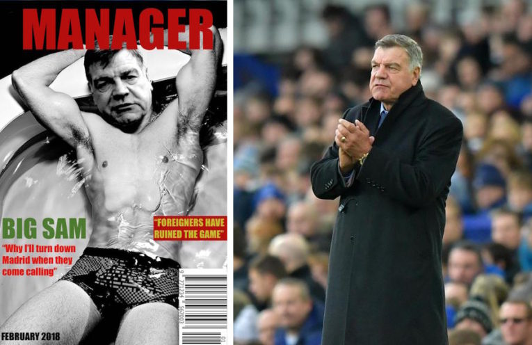 Allardyce on magazine cover