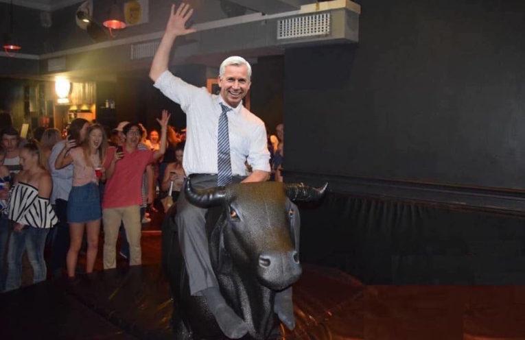 Pardew on bull