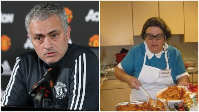 Mourinho and canteen lady