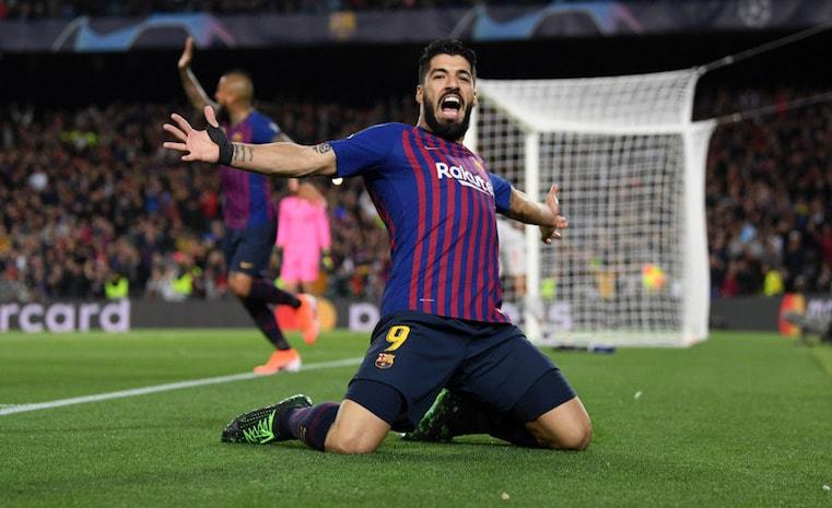 Suarez celebration